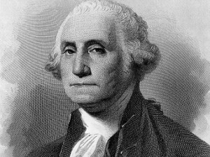 377869 44: A portrait of George Washington, first President of the United States serving from 1789 to 1797. (Photo by National Archive/Newsmakers)